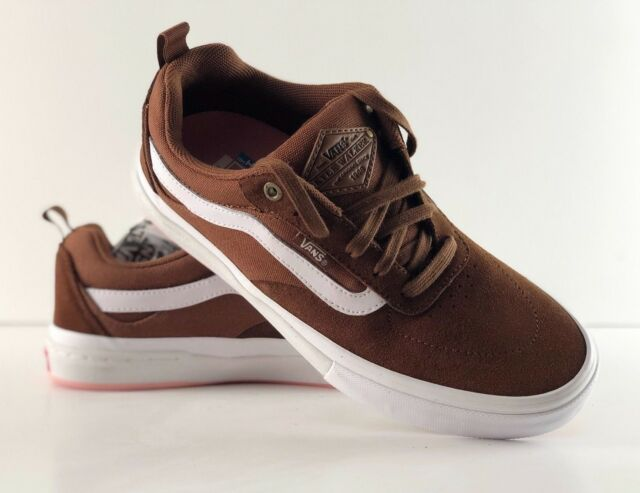 9080c179aa13 VANS Kyle Walker Pro Emperador Brown True White Skate Shoes VN0A2XSGQO0