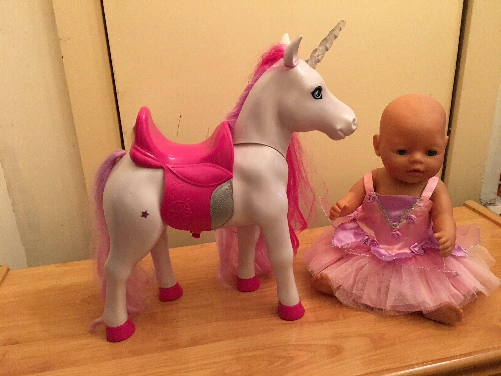 Baby Born Doll With Unicorn  Very Cute