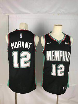 Hombres Jersey Baloncesto Jersey Grizzlies # 12 Morant Malla Jerseys cosidos Cool Aptitud Swingman