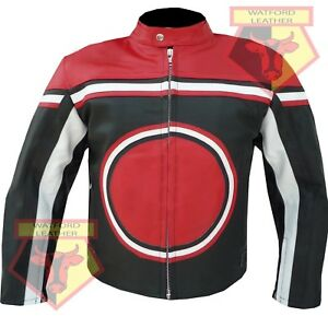 CUSTOM-0113-MOTORBIKE-MOTORCYCLE-BIKERS-RED-COWHIDE-LEATHER-ARMOURED-JACKET