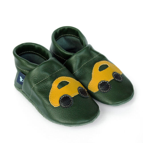 Pantau Leather Baby Shoes Walking Learning Shoes Krabbelschuhe Slippers with Car