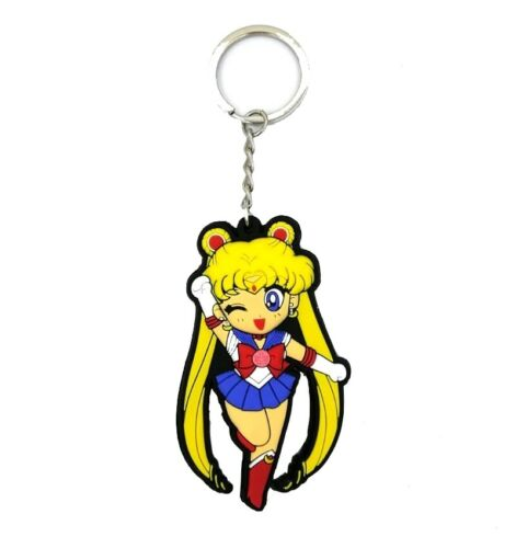 8 cm Sailor Moon Porte Clés PVC Figurine Tsukino Usagi Double Face