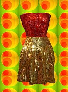 173-Glam-Rock-Hippie-Pailletten-Top-Disco-Queen-Dancing-70er-Jahre-rot
