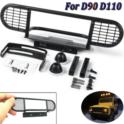 Metal CNC Front Bumper Bar For RC 1:10 D90 D110 RC 4WD Climbing Rock Crawler Car