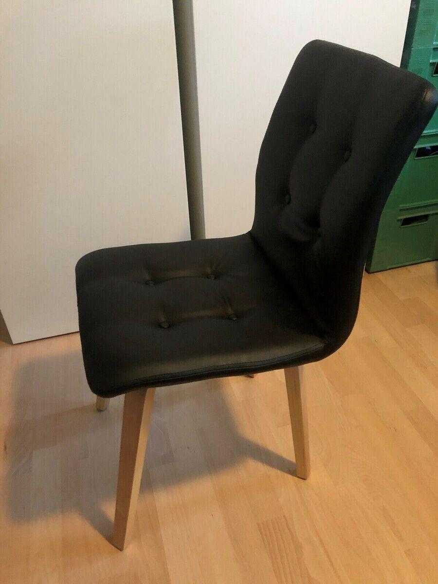 Spisebordsstol, Træ og læder, Rigtig behagelige læder Fio
