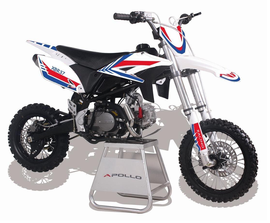 Orion XBR-37 Dirt Bike 125 ccm 14 12 Räder Pocketbike rot blau weiß