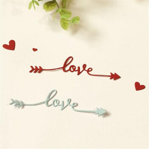 Love Heart ECG Heartbeat Pressing Scrapbooking Cutting Dies Embossing CardB Dh