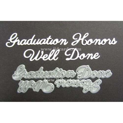 Cardmaking Graduation Honors Well Done Britannia Dies