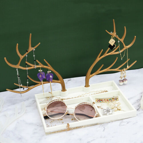 Antlers Jewelry Stand Resin Casting Silicone Mold Display Tray Epoxy Rack DIY