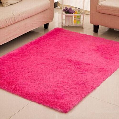Fluffy Rugs Anti-Skid Shaggy Area Rug Dining Room Home Bedroom Floor