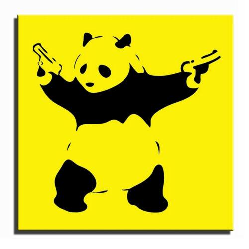 Guns Panda Banksy Single Canvas Wall Art Picture Print i
