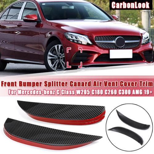 Front Bumper Splitter Air Vent Cover Trim For Mercedes Benz W205 ...