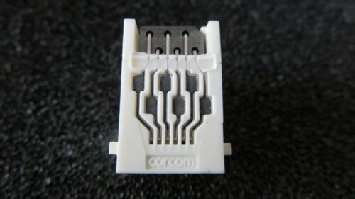 CORCON RJ11-6L-B ferrite 10 Pcs F9150 white connector