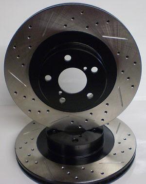 Honda Civic Si 02 03 Drilled Slotted Brake Rotors Rear