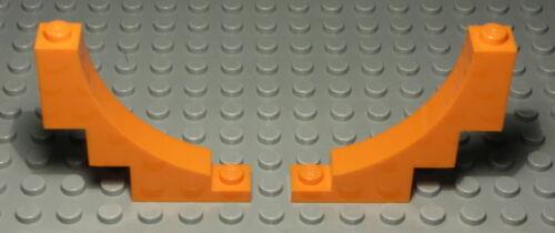 Lego Stein Rundbogen 1x5x4 Orange 2 Stück 2529
