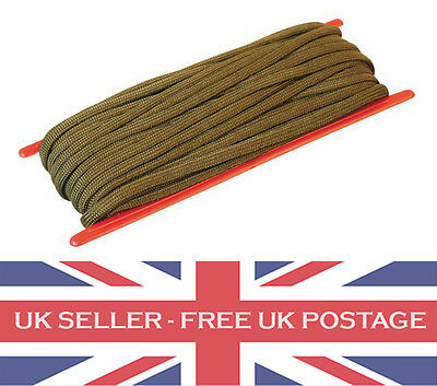 Kombat 3mm thick 15 m 15 ft olive Green Para cord utility rope on spool