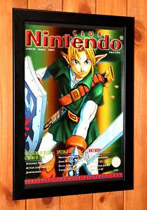 1998 The Legend of Zelda Ocarina of Time N64 Vintage Promo Poster Ad Page Framed