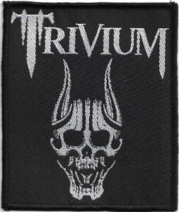 Official-Licensed-Merch-Woven-Sew-on-PATCH-Metal-Rock-TRIVIUM-Screaming-Skull