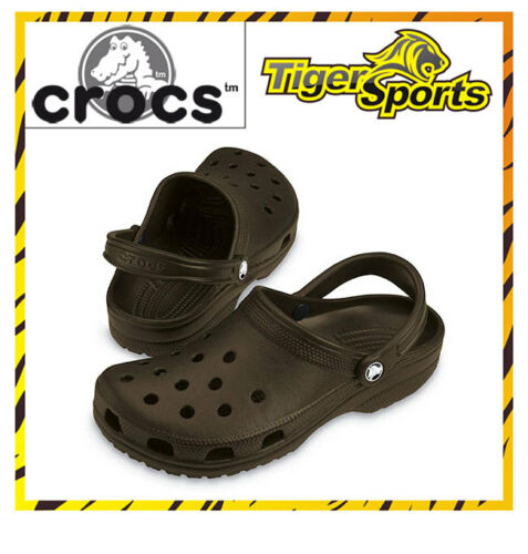Crocs Chocolate Braun Sandalen Schuhe Clogs CA7 NEU Classic Größen 36-48