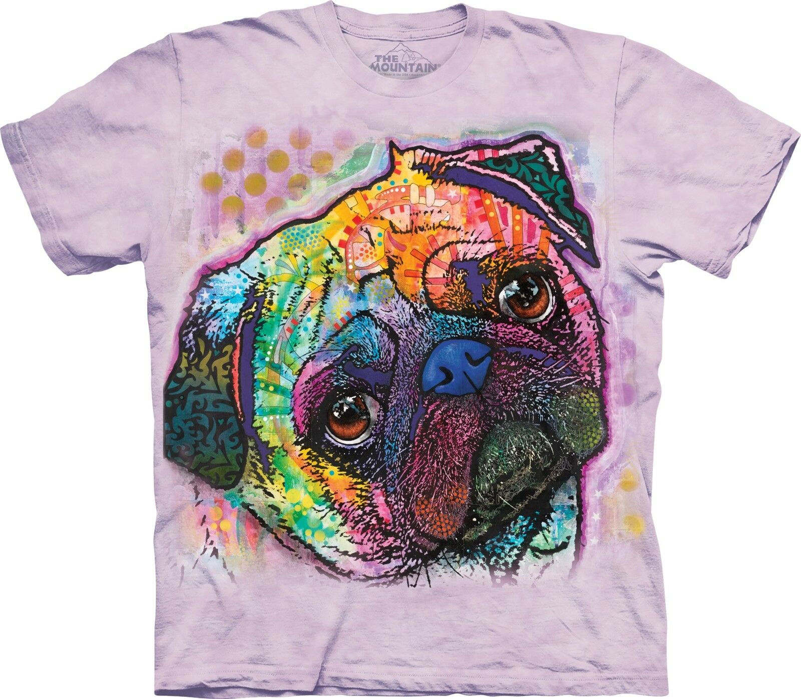 The Mountain T-Shirt    Lovable Pug      | Modern