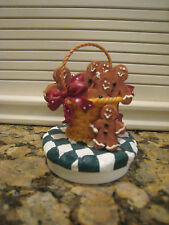 Christmas Gingerbread Man Candle Topper  **EUC
