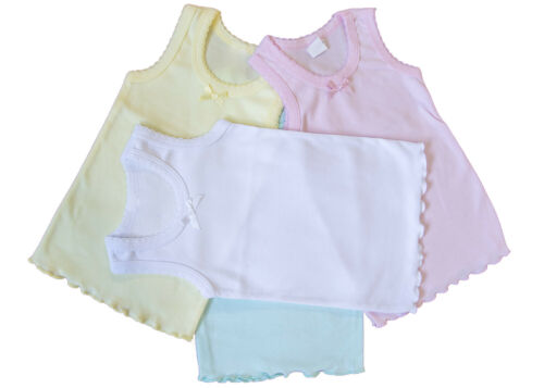 Size 1-16 4-Pack BOW DETAIL GIRLS Colorful UNDERSHIRT Camisole TANK Top TOPS