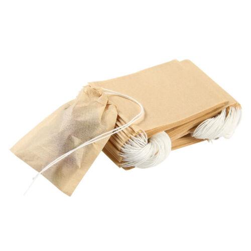 Jetables Heat Seal avec cordon de serrage Infuseur intercalaires Passoire à Thé Tea Filtre Sac