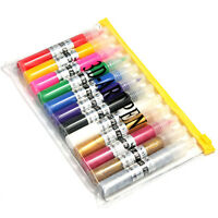 12 Colors 3d Pure Shimmer Acrylic Nail Art Drawing Tool Painting Gel Pen Set