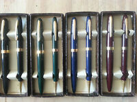 Eversharp Black,blue,green Or Red Pen & Pencil Set In Box Jc201