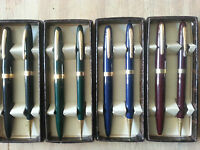 Eversharp Black,blue,green Or Red Pen & Pencil Set In Box Jc201