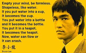 Poster Bruce Lee Quote Empty Your Mind Ebay