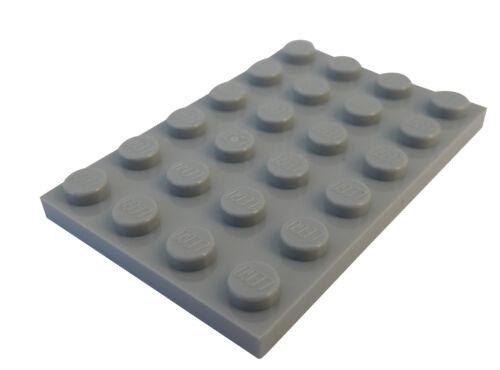 4x6 Platten Neu City 3032 light bluish gray Lego 10 Stück Platte in hellgrau
