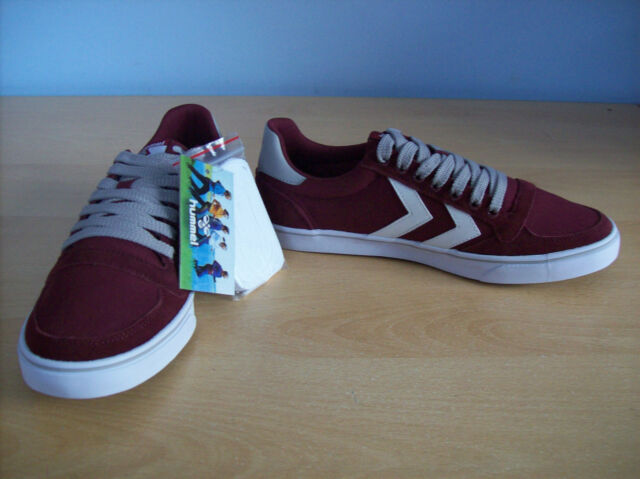 Shoes Unisex Hummel Slimmer Stadil Mono Lo Trainer Wine Red UK 5 New Boxed +Tag