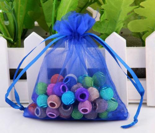 Nouveau Luxe 20x Organza Sac Cadeau Bijoux Emballage Pochette mariage faveur Sacs Cadeau