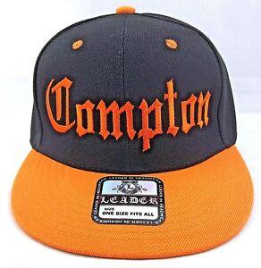 20b97b716be COMPTON Snapback Hat Los Angeles California Cap South Central Black ...