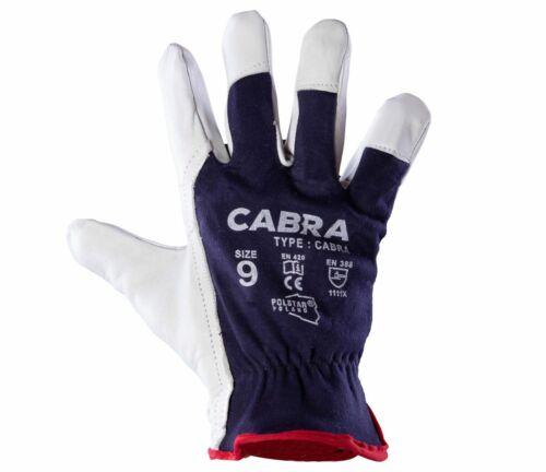 Cabra 9 Paar Montagehandschuhe Ziegenleder Lederhandschuhe Arbeitshandschuhe