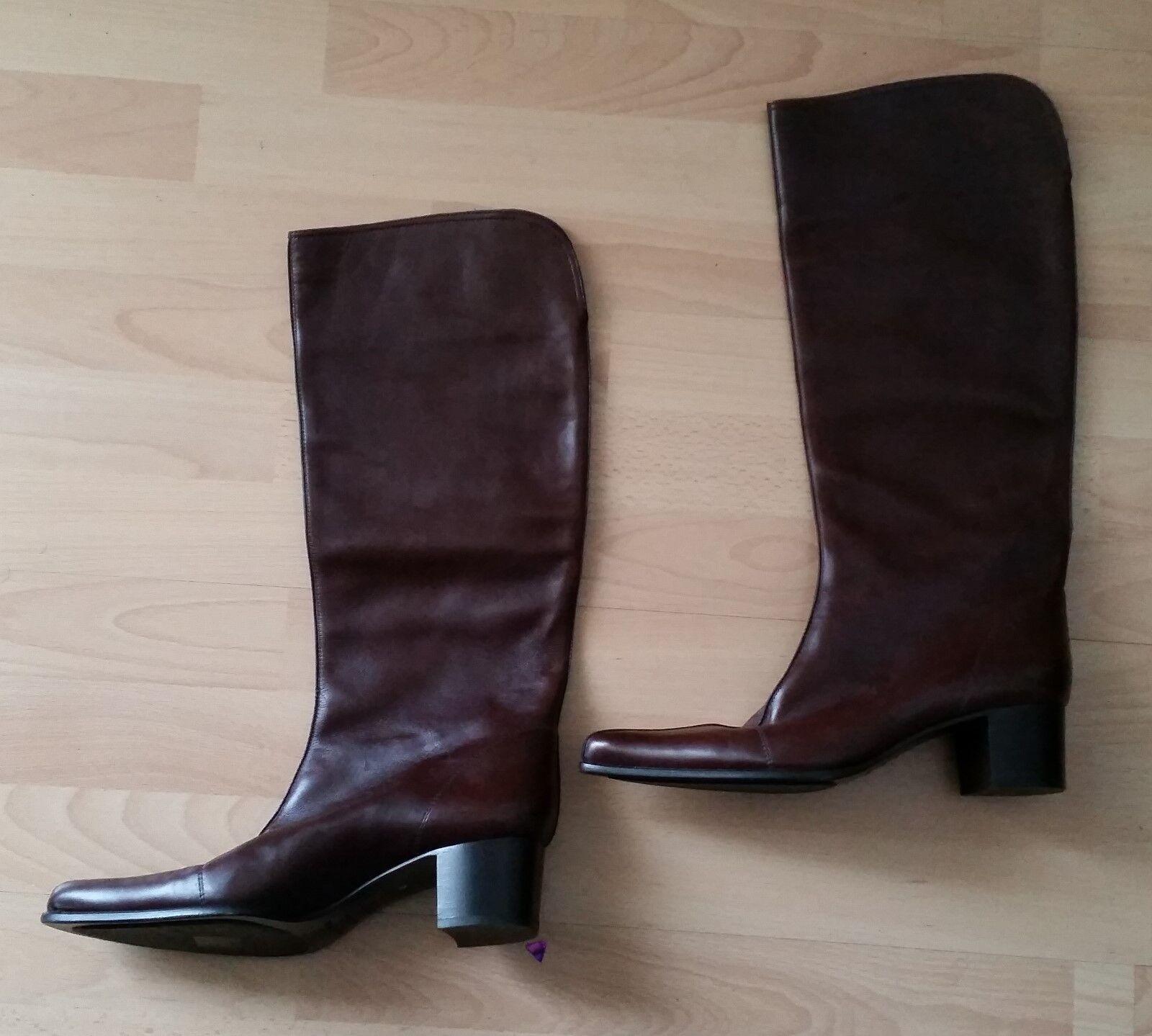 SERGIO ROSSI  – Hochwertige Rotbraune Stiefel  Größe 41 41 41 – Leder Wie NEU e328f0
