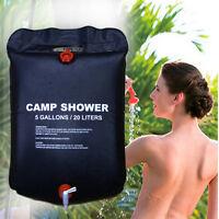 5 Gallon/20 Liters Camping Solar Shower Bag Outdoor Bath Water Bag Hiking Travel