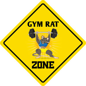 "*Aluminum* Gym Rat Zone Funny Metal Novelty Sign 12/""x12/"""