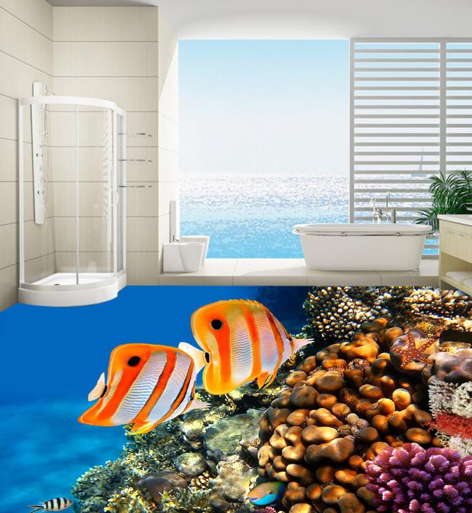 3D Tropical Fish Ocean 73 Floor WallPaper Murals Wall Print Decal 5D AU Lemon