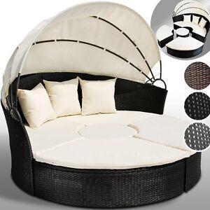 Salotto da giardino poltrone divano da esterno in polyrattan sdraio rattan letto ebay - Letto da esterno ...