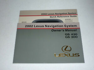 2002 lexus gs300 navigation owners manual 02 gs 430 300 ebay rh ebay com 2002 lexus is300 owners manual pdf 2002 lexus is300 owners manual pdf