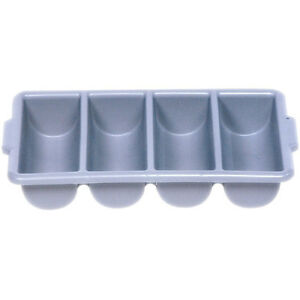 Rubbermaid FG336200GRAY Cutlery Bin, 4 Compartment, Gray