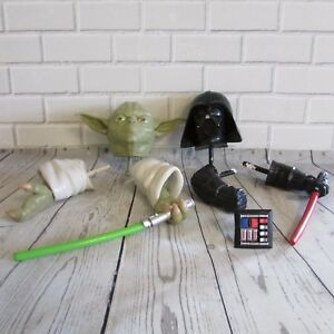 Star Wars Pumpkin Push Ins Yoda Darth Vader Lot Of 2