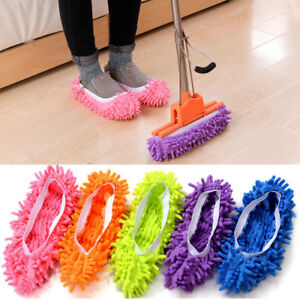 2Pcs-Mop-Slippers-Lazy-Floor-Foot-Socks-Shoes-Quick-Polishing-Cleaning-Dust