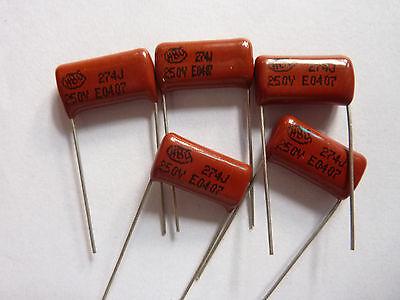5pcs 250V 224 J 0.22uf 220nf 220000pf P15 CL21 CBB metal film capacitor