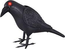 HALLOWEEN  ANIMATED CROW BLACK BIRD LIGHTS HAUNTED HOUSE  PROP DECORATION