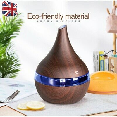 300ML LED Ultrasonic Aroma Essential Oil Diffuser USB Air Purifier Humidifier UK | eBay