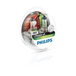 philips h4 hb2 longlife ecovision 60 55w 12v p43t 12342llecos2 2 bulbs ebay. Black Bedroom Furniture Sets. Home Design Ideas