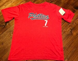 PHILADELPHIA PHILLIES MAJESTIC  PRACTICE JERSEY YOUTH M L XL BOYS S M L NWT RED